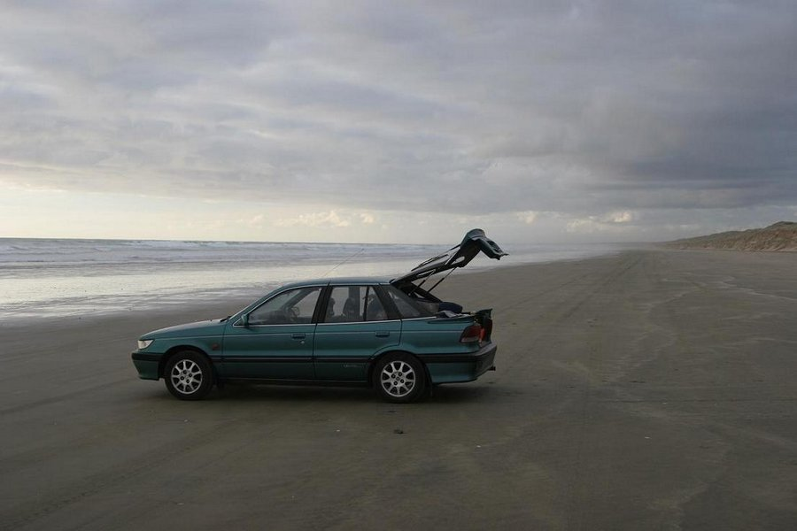 Ninety Mile Beach, driving, beach, Northland, photo