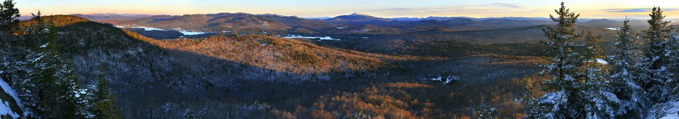Owls Head Mt, Owl's Head, Mountain, Long Lake, Blue Mountain, winter, view, over, panorama, Santanoni, Kempshall, Adiron, photo