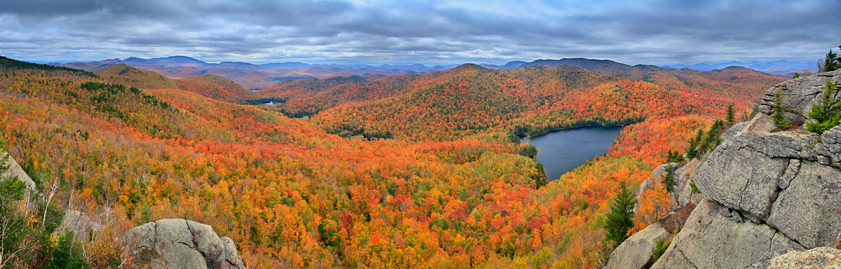 Peaked Mountain Pond,Peaked Mt,pond,Adirondack,autumn,Gore Mt,Thirteenth Lake,panorama,fall,Peaked Mt Pond,Gore Mountain,Johnathan Esper, photo