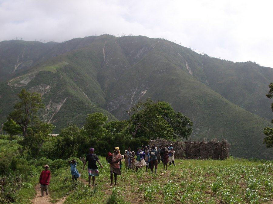 Jeantilhome, village, Pic de la Selle, highpoint, Haiti, mountains, highest, mountain, photo
