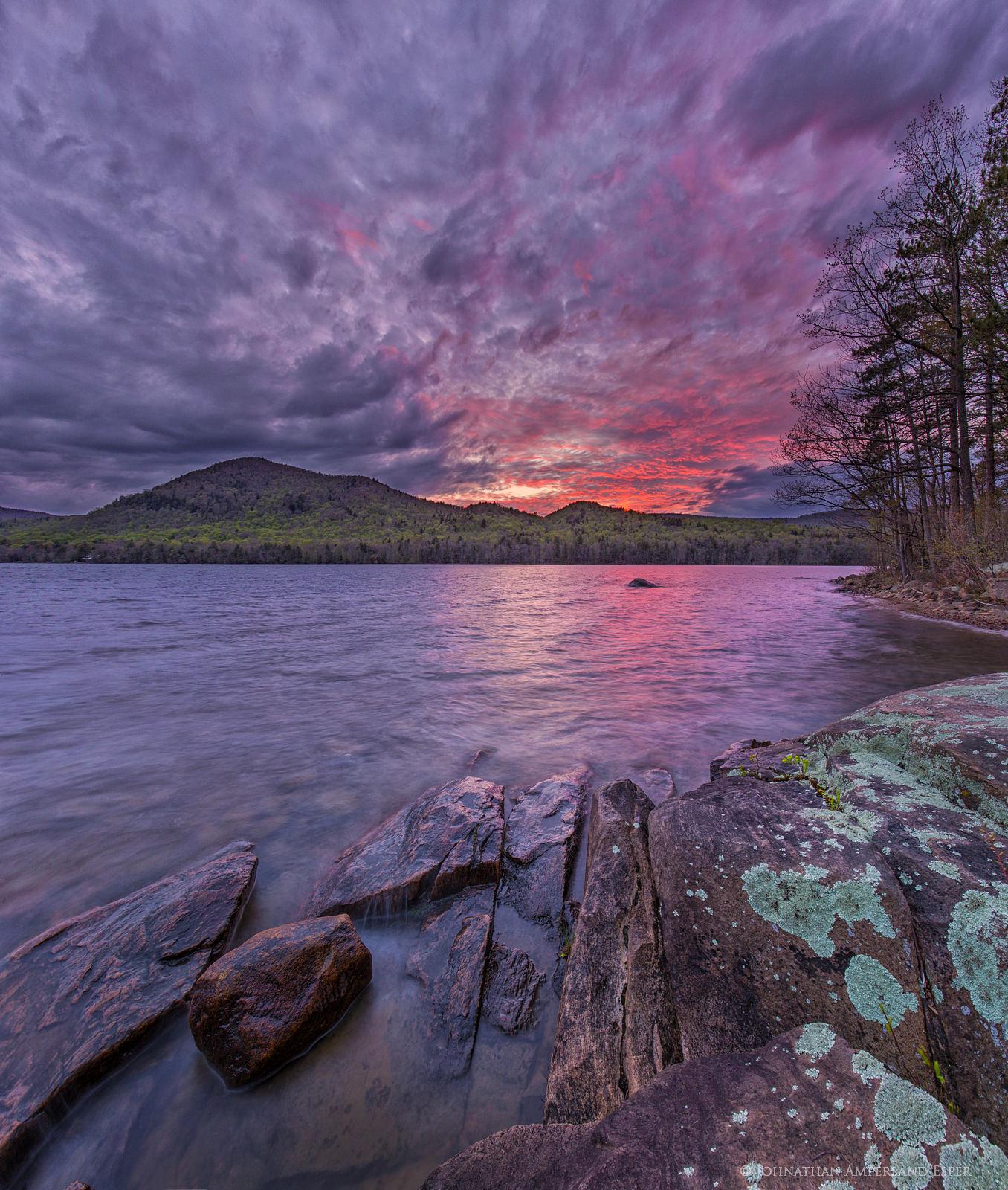 Piseco Lake,Piseco Mt,Pieseco Mountain,sunset,Piseco,Adirondack Park,lake,spring,2016, photo