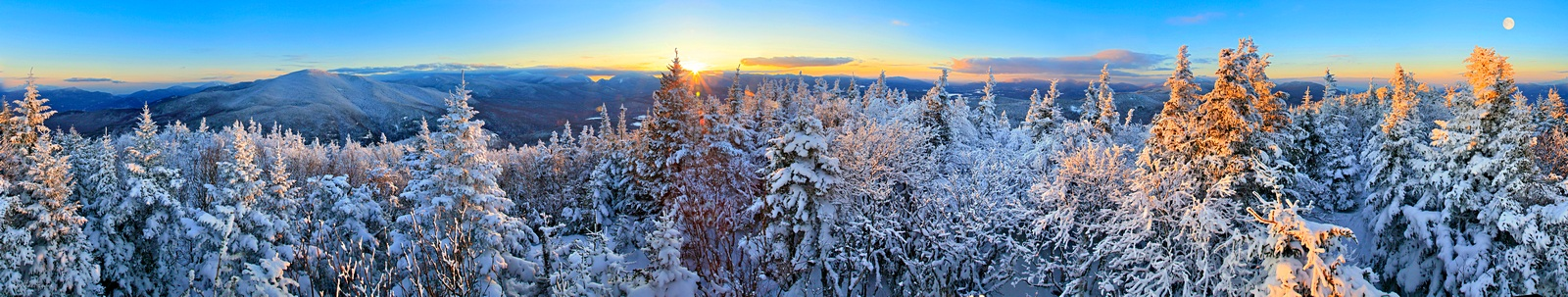 Pitchoff Mt, winter, 360,360 degree,panorama,treetop,Adirondack mountains,High Peaks,High Peaks range,Adirondacks,Cascade,Cascade Mt,, photo