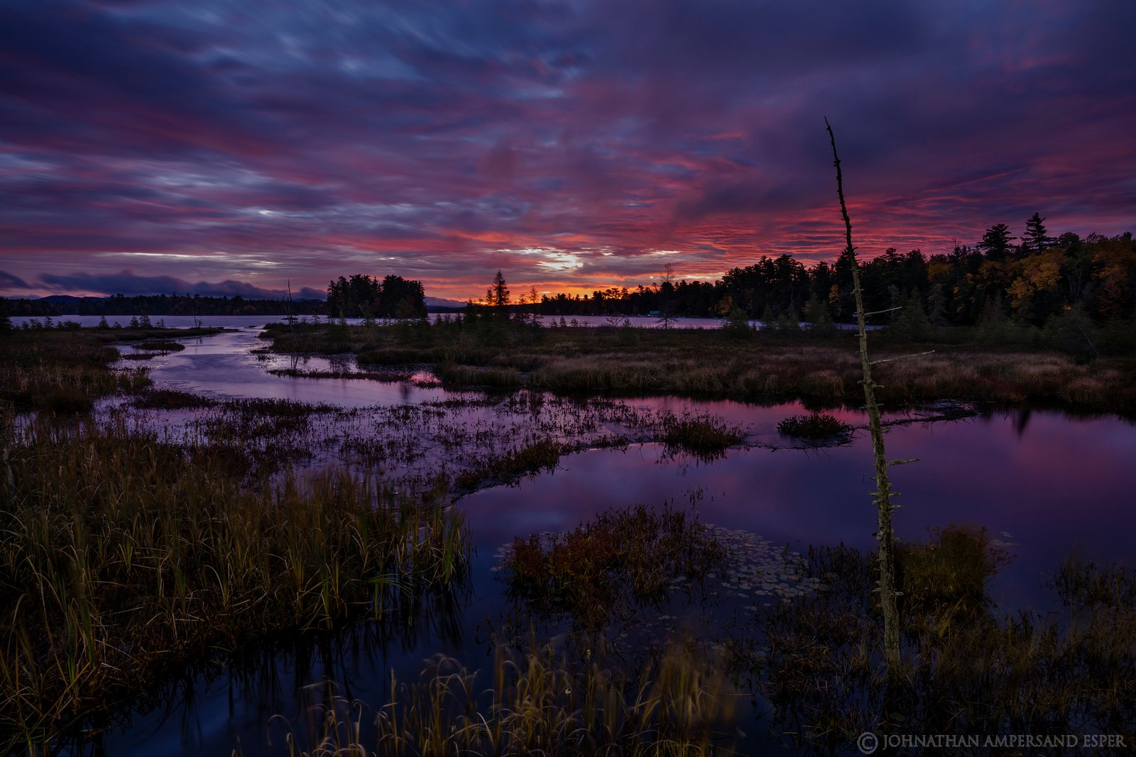 Raquette Lake,Browns Tract Inlet,2019,Muench Workshop,sunrise,predawn,purple,, photo