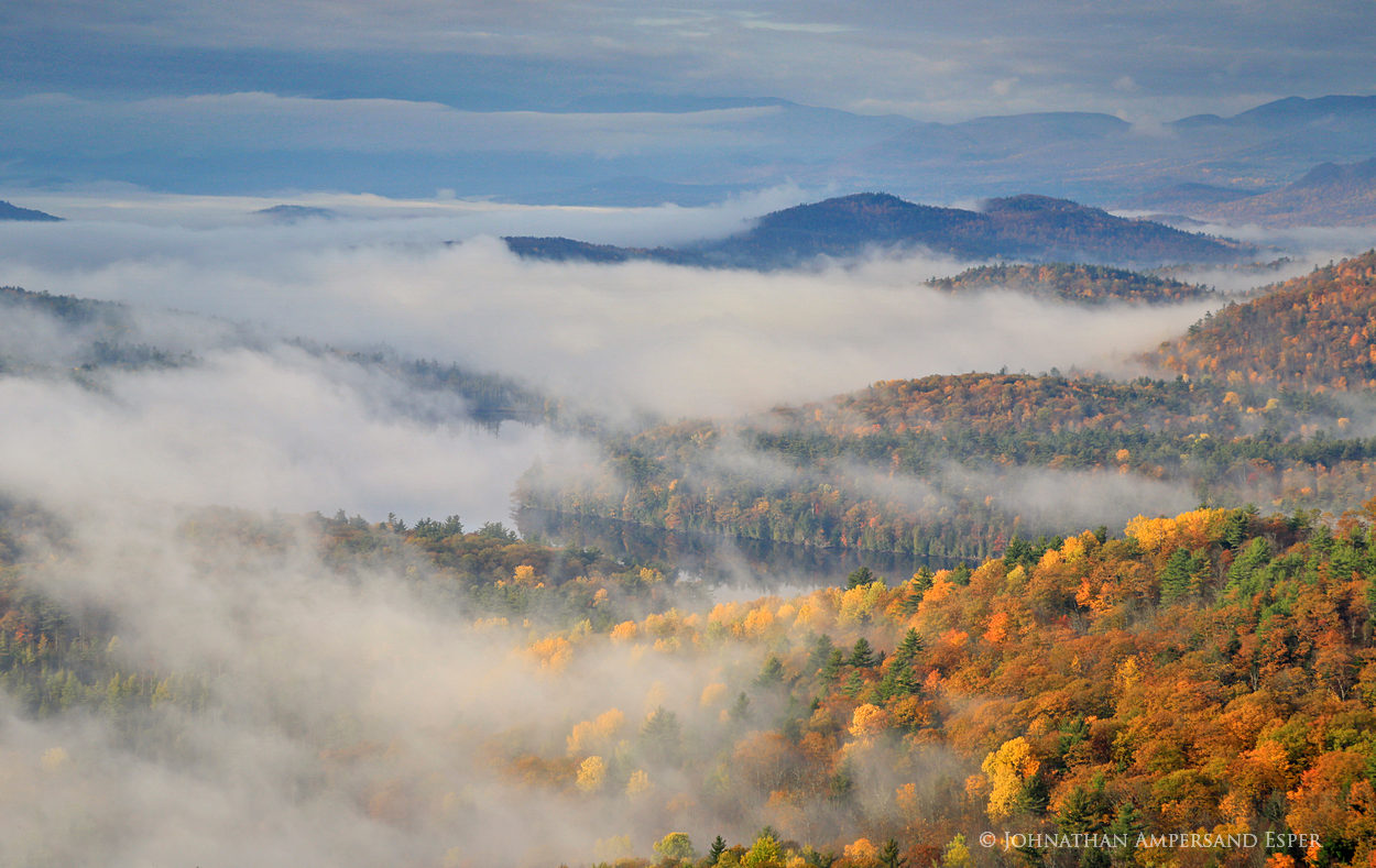 Rattlesnake Mt,Rattlesnake Mountain,Lake Champlain valley,fog,, photo