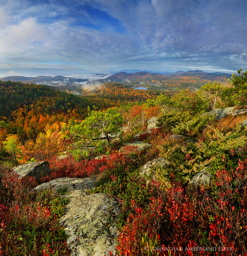 Rattlesnake Mt,Rattlesnake Mountain,Lake Champlain valley,fog,Lincoln Pond,summit,fall,, photo