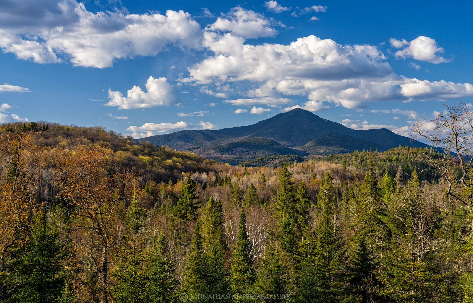 Whiteface Mt,spring,sunny,clouds,puffy clouds,2021,River Road Lodge,River Rd,River Rd Lodge,