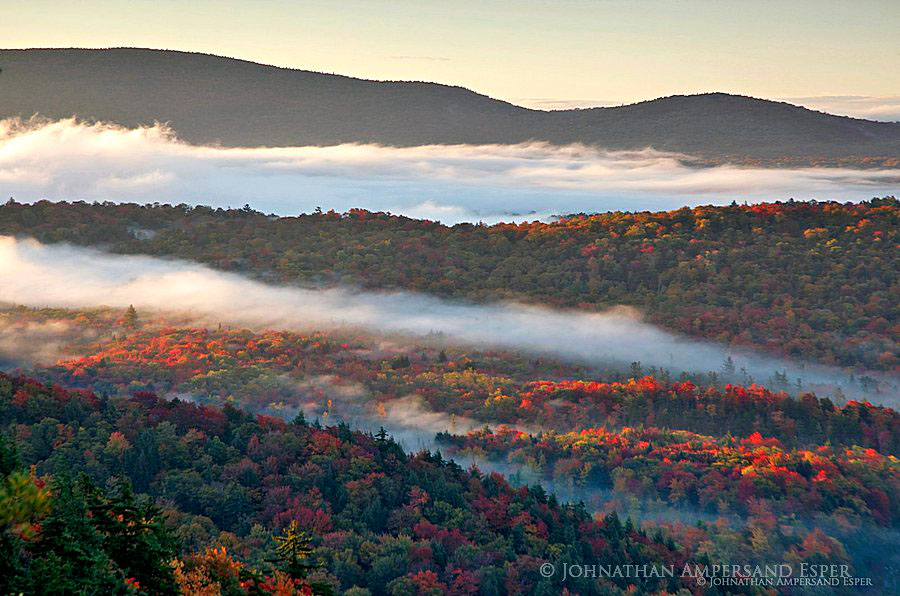 Inlet,town of Inlet,Inlet NY,Rocky Mt,fog layers,fog,sunrise,autumn,Rocky Mt Inlet fog,Adirondack Park, photo