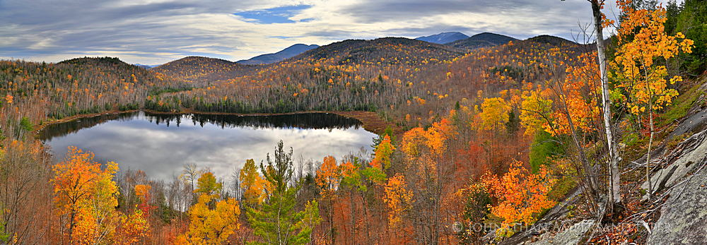 Round Pond,Dix Mountain,Dix Mt,Dix Range,panorama,Round Pond ledges,ledges,autumn,pond,Adirondack,Adirondacks,, photo