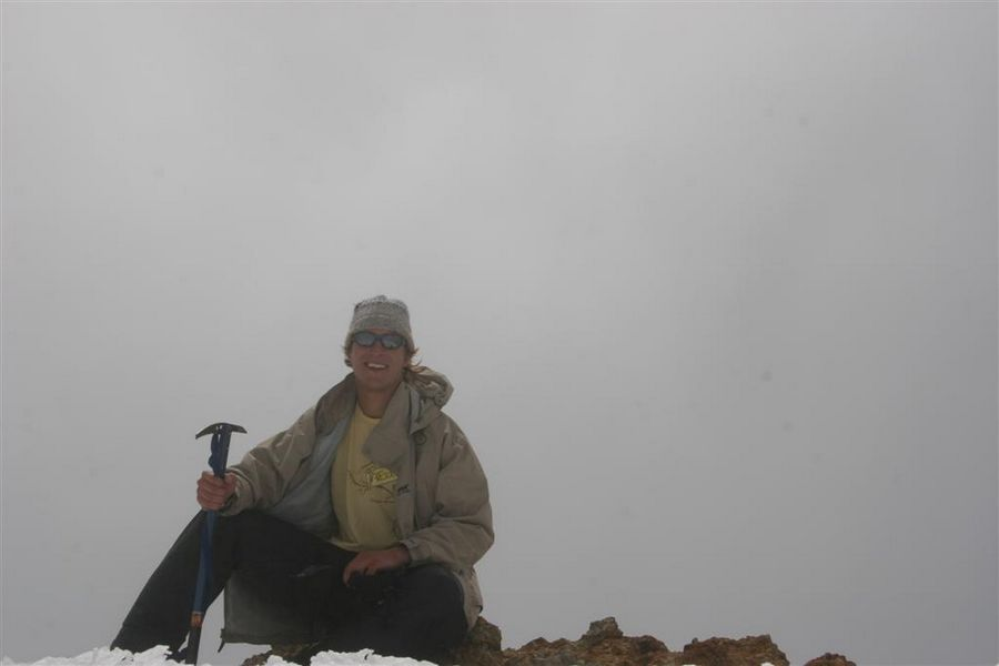 Ruapehu, summit, me, on, photo