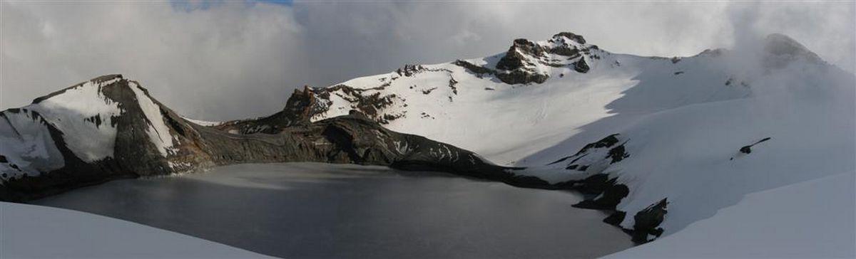 Ruapehu, summit, Crater Lake, mt, photo