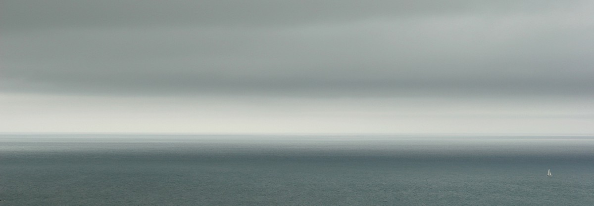Abel Tasman,coast,grey,ocean,sailboat,off,coastline,alone,national park, photo