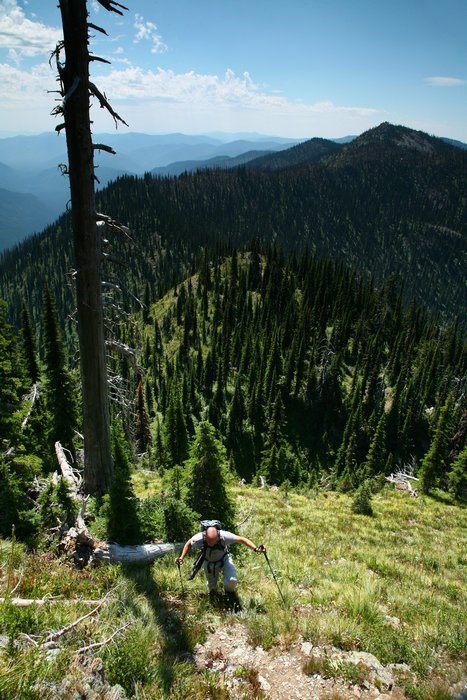 Salmo-Priest Wilderness Area, Coleville National Forest, eastern, Washington, Snowy Top Mountain, hiker, hiking, off-tra, photo