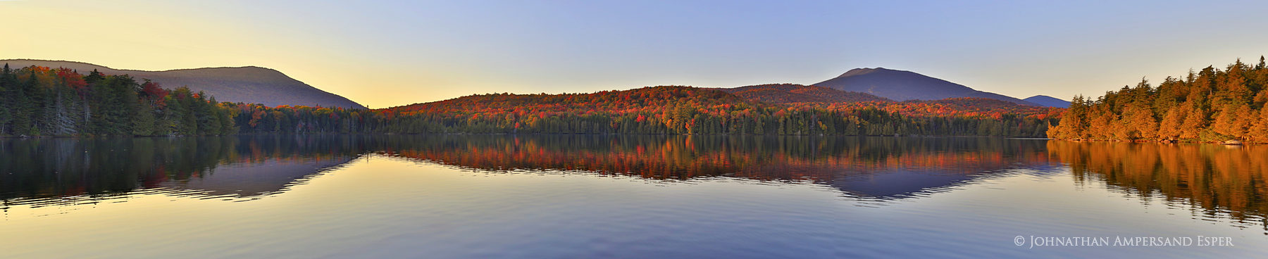Santanoni Lake,Lake Santanoni,Santanoni,reflection,Santanoni Peak,fall,2014,sunset,panorama, photo