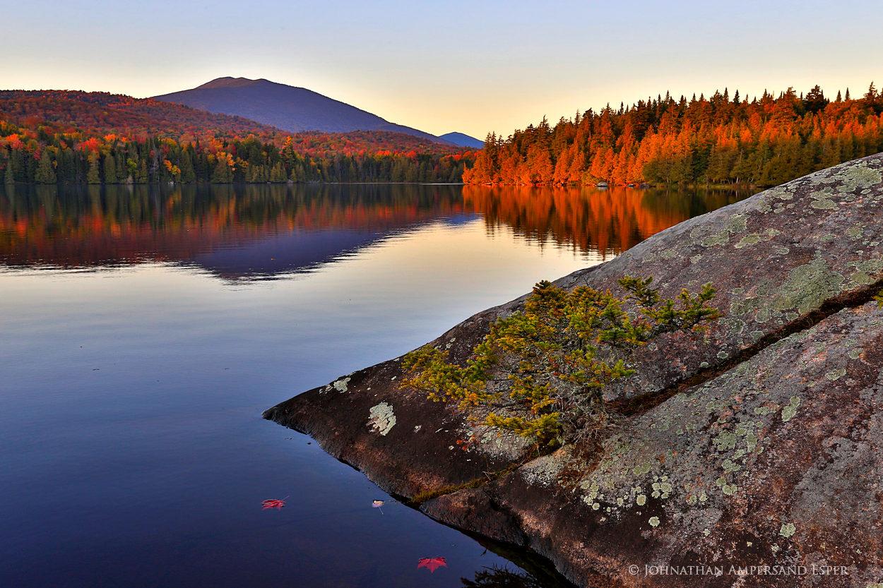 Santanoni Lake,Lake Santanoni,Santanoni,rocks,Santanoni Peak,fall,2014,sunset,, photo