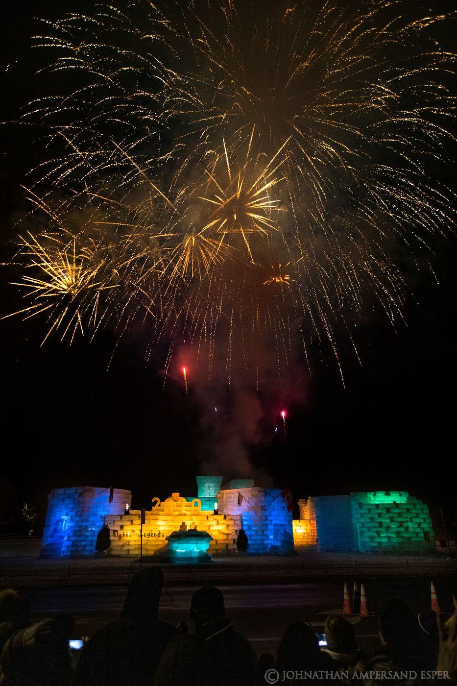 Saranac Lake winter carnival,Saranac Lake,Saranac Lake ice palace,ice palace,fireworks,ice palace fireworks,Saranac Lake winter...