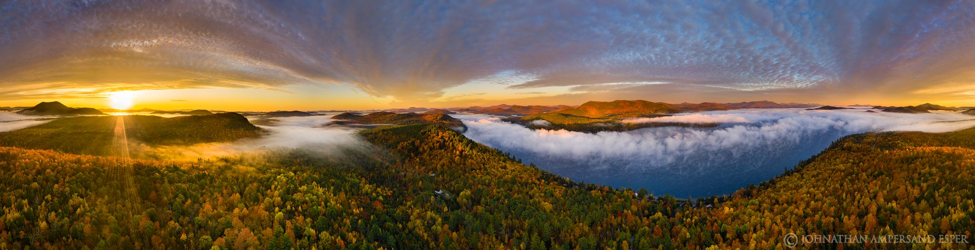 Schroon Lake,Browns house,fall,sunrise,2019,drone,aerial,panorama,drone panorama,360 degree,360 panorama,town of Adirondack, photo