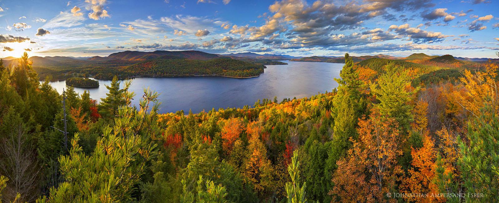 Schroon Lake,treetop,panorama,autumn,2015,southeast shoreline,shoreline,lake,Adirondack,lakes,Adirondack Park,, photo