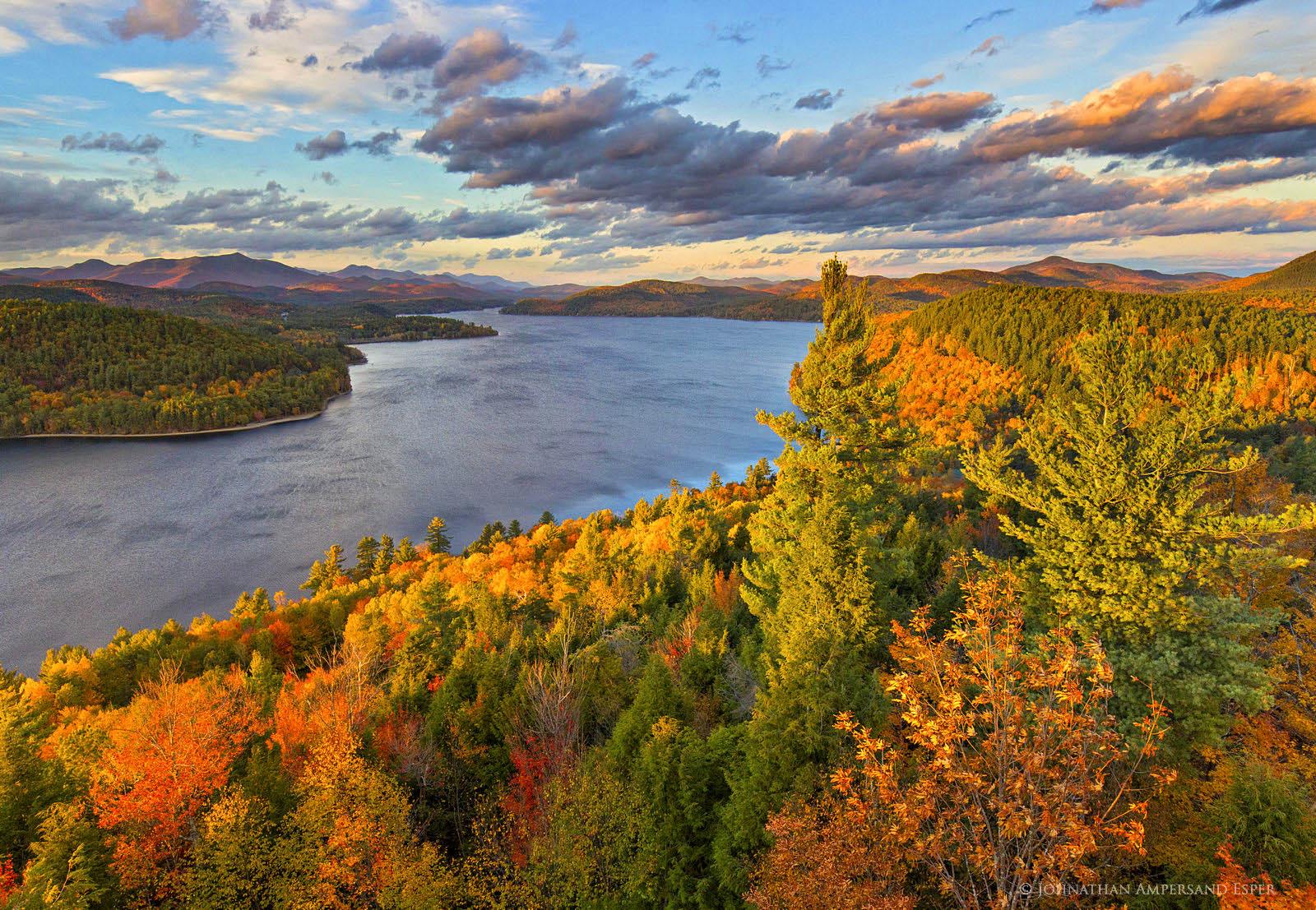 Schroon Lake,treetop,autumn,2015,southeast shoreline,shoreline,lake,Adirondack,lakes,Adirondack Park,, photo