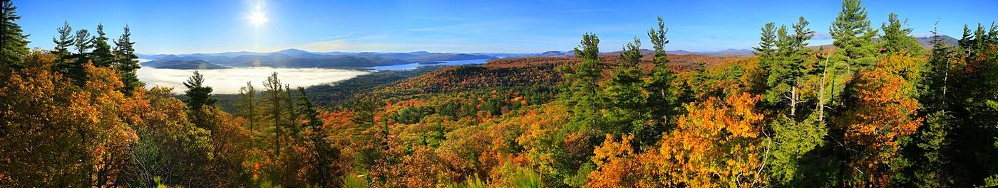 Schroon Lake, Severance Hill, Severance,Adirondack,lake,Park,treetop,panorama,autumn, photo