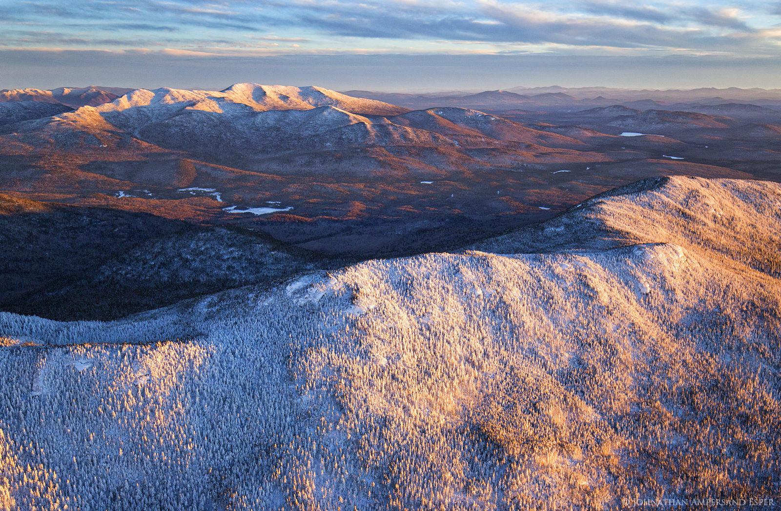 aerial,winter,High Peaks,2016,Adirondack Mountains,Adirondack High Peaks,Adirondacks,Santanoni Range,Panther Mt,Santanoni Peak,Santanoni,Seward Range,Donaldson,Donaldson ridge, photo
