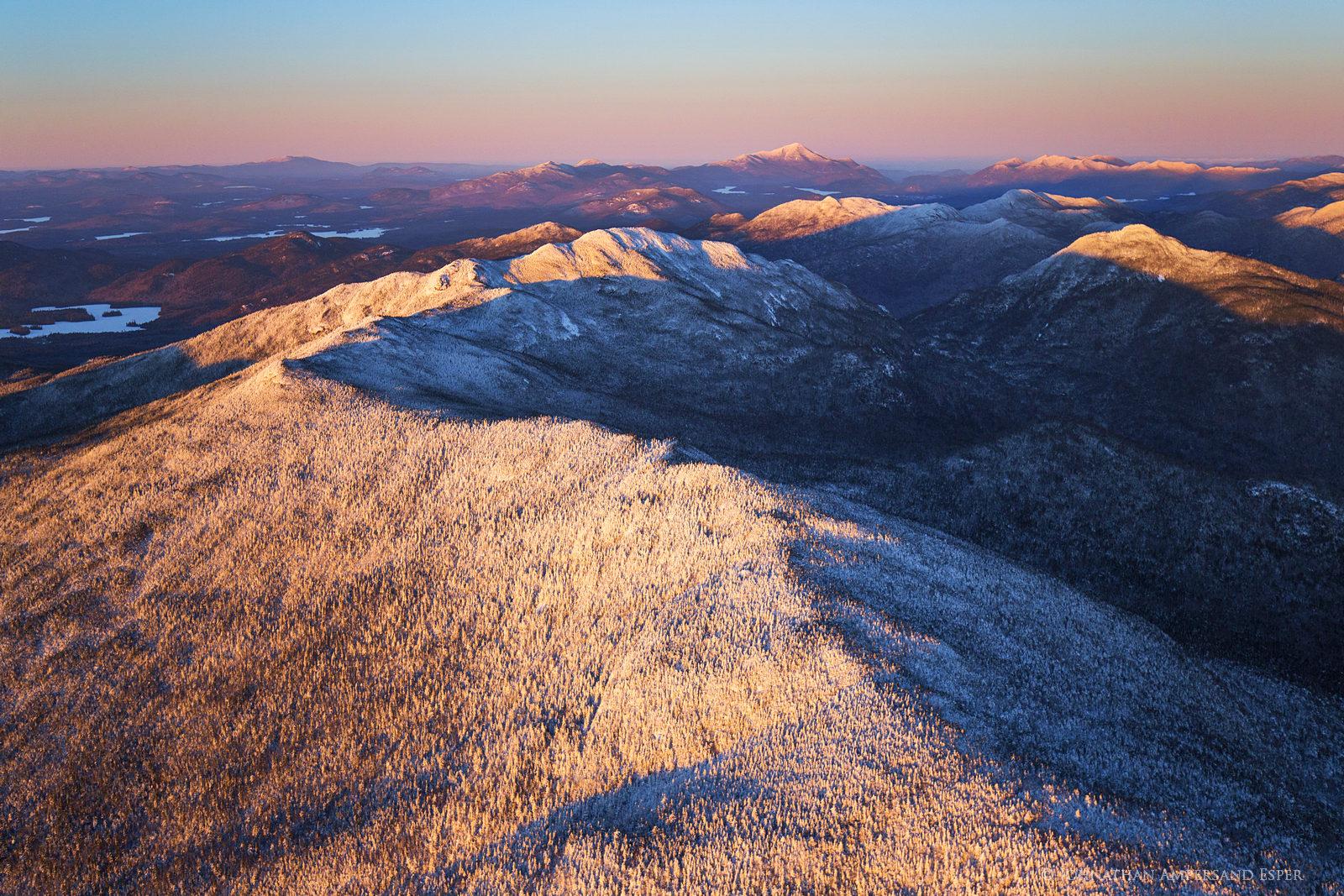 Seward Range,Seward Mt,aerial,winter,sunset,aerial winter,alpenglow,light,2016,Johnathan Esper,Donaldson,Emmons,, photo