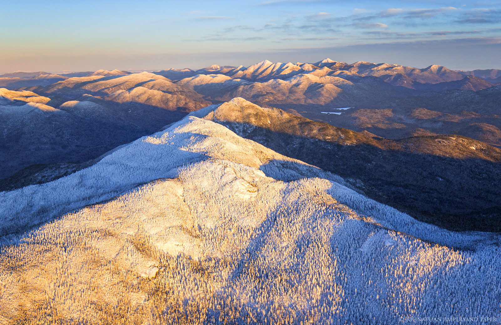aerial,winter,High Peaks,2016,Adirondack Mountains,Adirondack High Peaks,Adirondacks,Seward Range,Seward,, photo