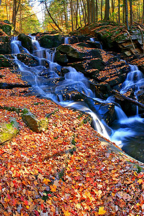 Shelving Rock Brook,Shelving Rock Brook upper falls,Shelving Rock stream,Lake George Wild Forest,casacade,waterfall, photo