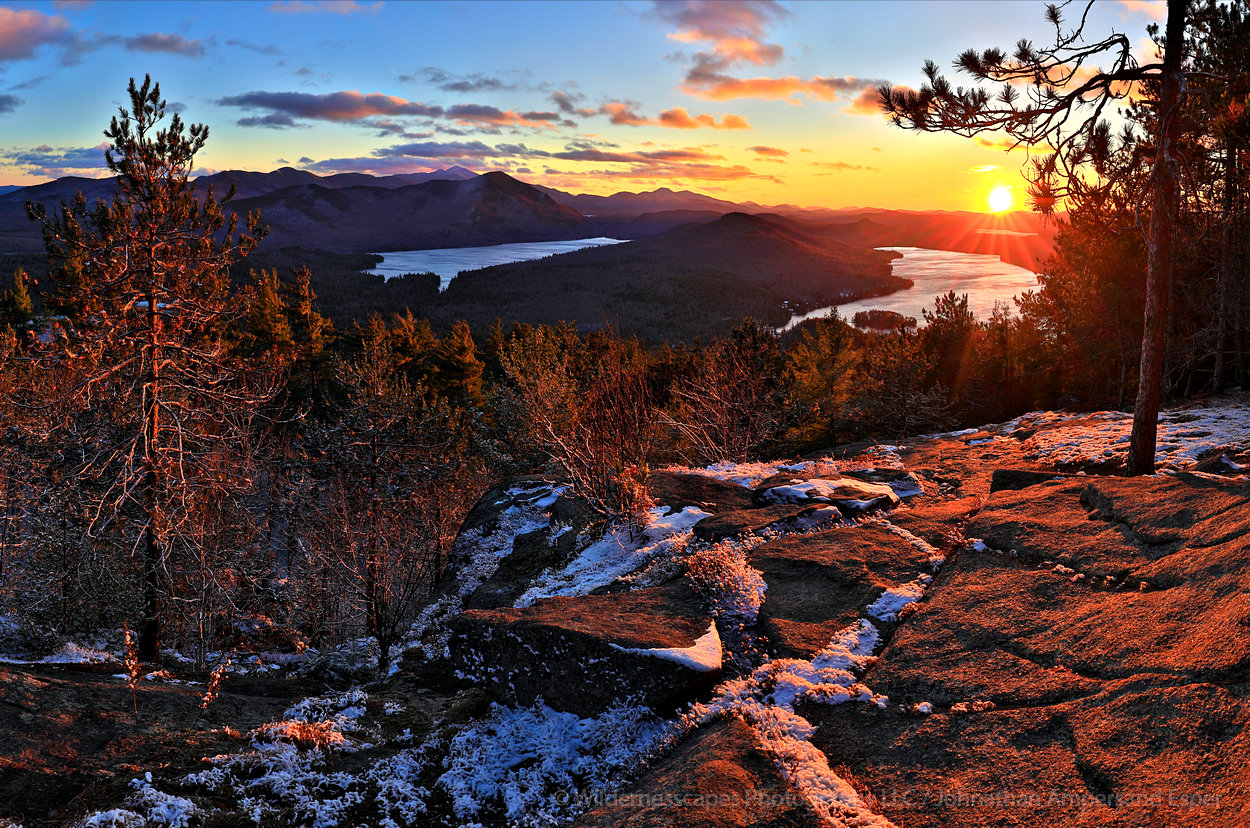 Silver Lake Mt,Silver Lake,Taylor Pond,Whiteface Mt,Catamount,November,sunset,, photo