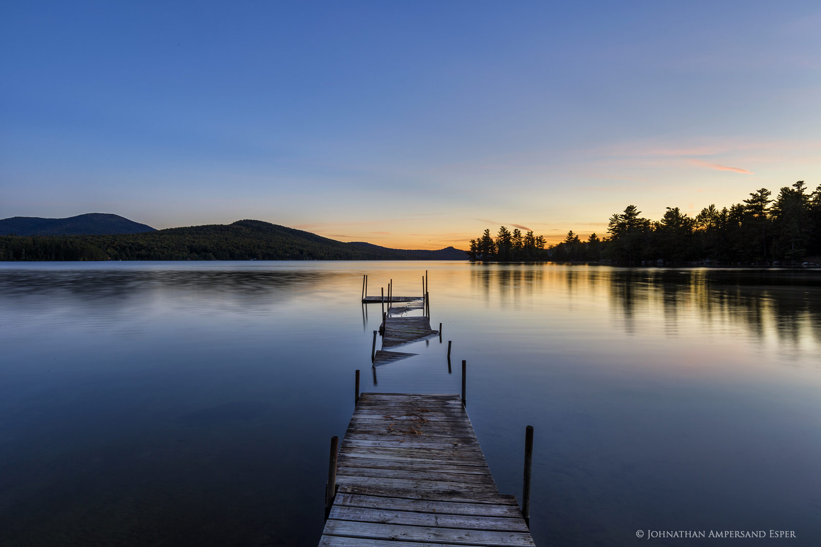 Silver Lake,dock,Whiteface Mt,twilight,flooded,Silver Lake dock, photo