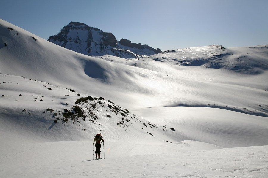 Ski Mountaineering, Whetterhorn Peak, San Juan Mountains, Colorado, backcountry skiing, Uncompaghre, winter, photo