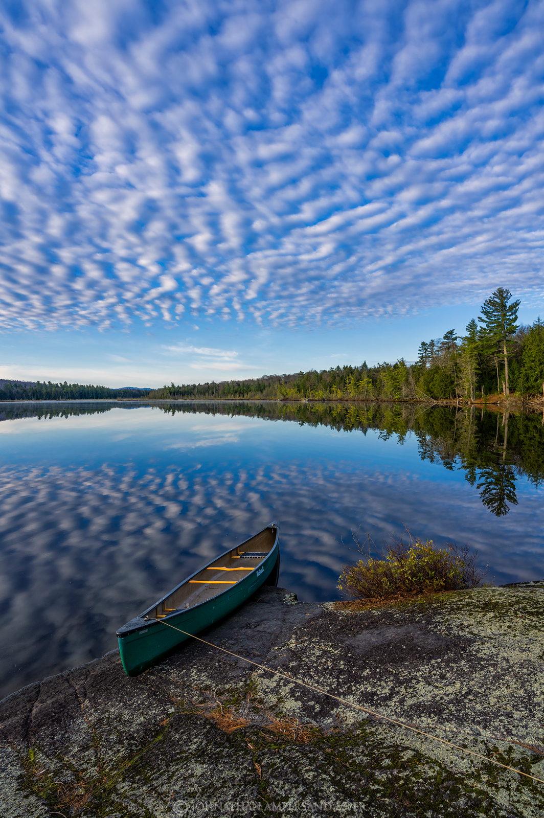 Peters Rock,Lower St. Regis Lake,Lower St Regis Lake,St Regis Lake,St. Regis Lake,cloud patterns,clouds,reflection,cloud reflection...