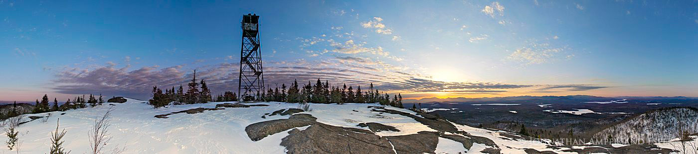 St. Regis Mt,St Regis,St Regis Mt,firetower,panorama,winter,sunrise,summit, photo