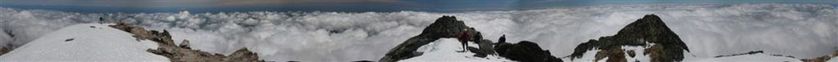 Mt. Taranaki, 360 degree, panorama, summit, New Zealand, photo