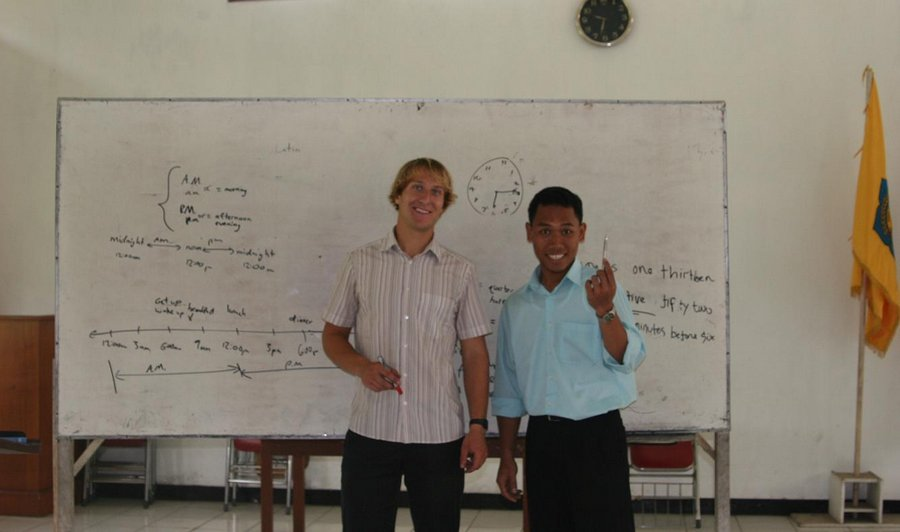 teaching english, Indonesia, bible school, TESOL, school, photo