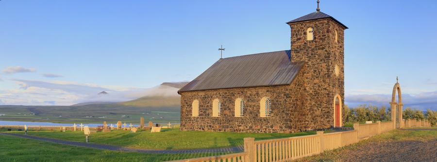 Icelandic,Iceland,church,stone,old,historical,, photo