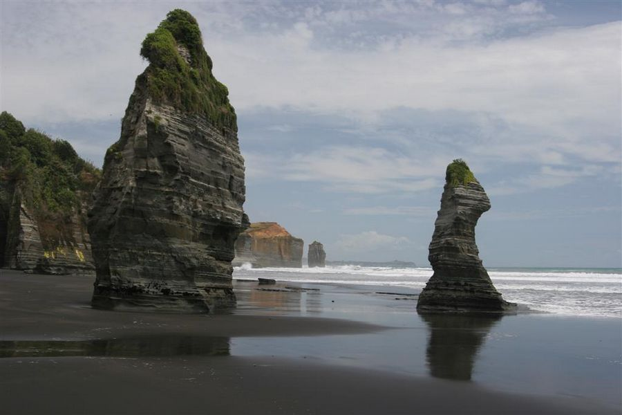 The Three Sisters, beach, area, Taranaki Coast, photo