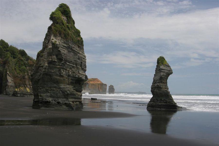 The Three Sisters, beach, area, Taranaki Coast, photo