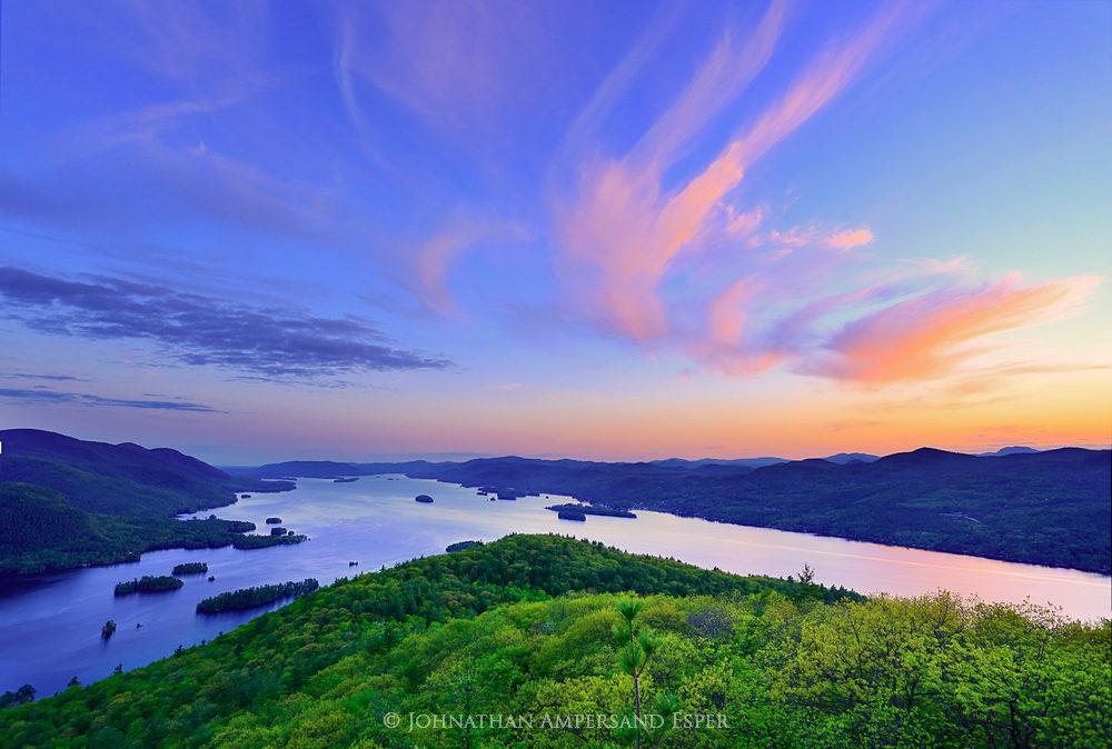Lake George,Tongue Range,Tongue Mt,Tongue Mountain,springtime,May,2015,Johnathan Esper,Adirondack Park,Adirondacks,First Mt,Treetop,Narrows,the narrows,First Mountain,sunset, photo