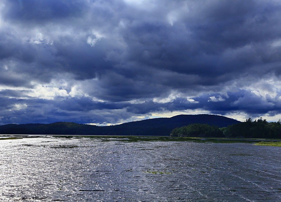 Tupper Lake,windy,blue,storm,clouds, photo