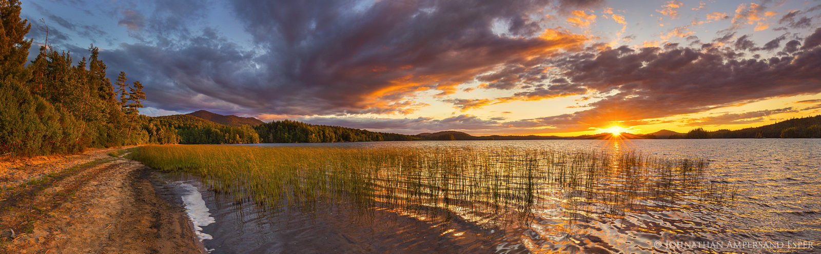 Middle Saranac Lake,Saranac Lake,summer sunset,summer,panorama,Ampersand,Ampersand Bay,Middle Saranac Lake,Saranac Lakes,, photo