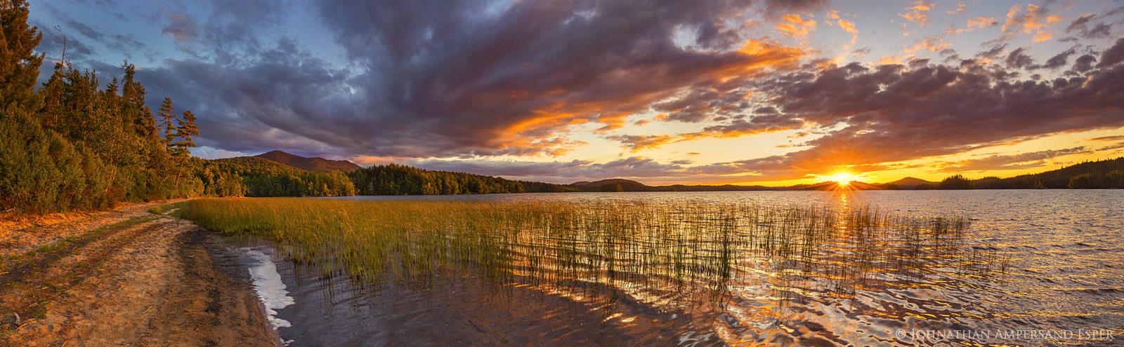 Middle Saranac Lake,Saranac Lake,summer sunset,summer,panorama,Ampersand,Ampersand Bay,Middle Saranac Lake,Saranac Lakes,