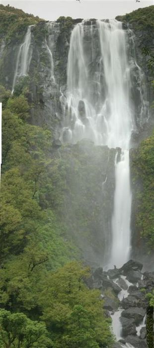 Wairere Falls, North Island, waterfall, New Zealand, photo