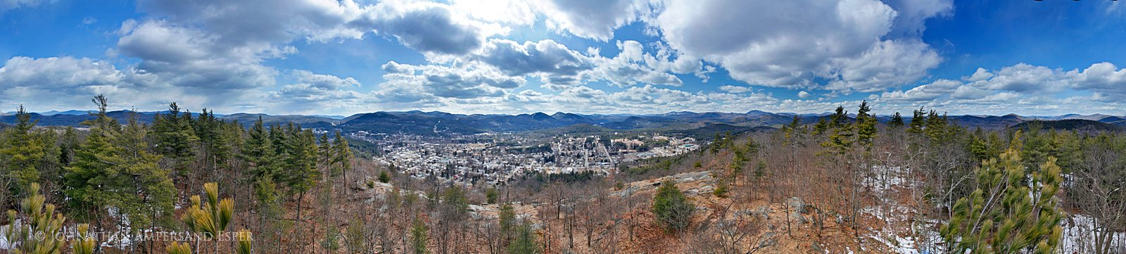 Warrensburg,town,of,Hackensack Mt,treetop,spring,clouds,panorama,360, photo