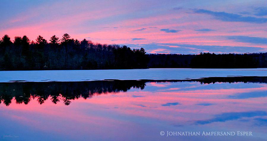 White Lake,early,spring,sunset, photo