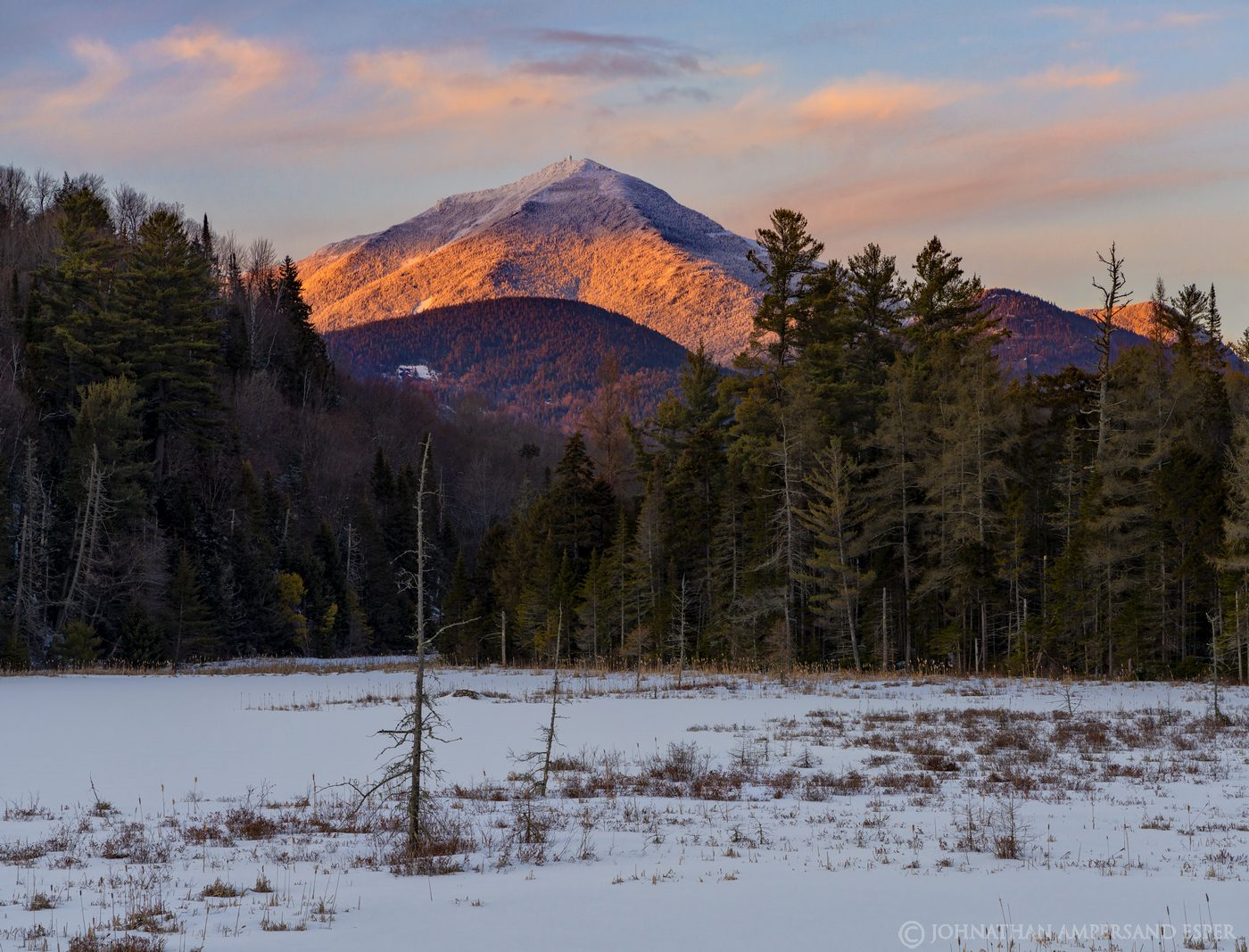 Whiteface Mt,Whiteface Mountain,Whiteface,winter,Whiteface Mt winter,alpenglow,March,2020,Adirondacks,sunset,light,Cherry Patch...