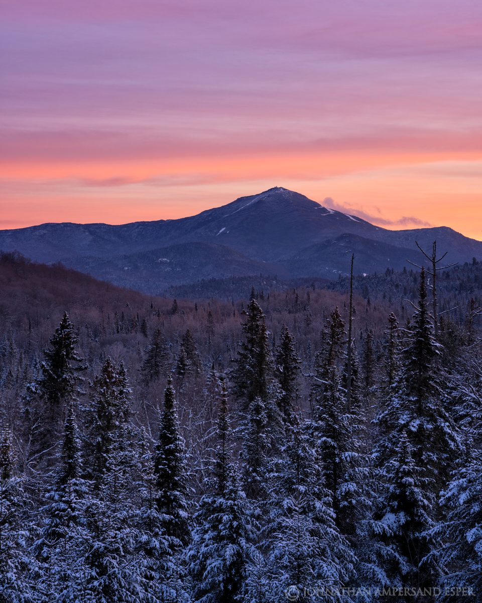 Whiteface Mt,River Rd,River Road,winter,2020,dawn,vertical