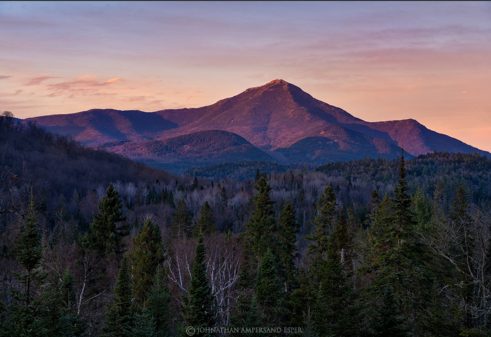 River Road Lodge, River Road,River Rd,deck,Whiteface Mt,alpenglow,November,2020,sunset,light,pink,Whiteface,Whiteface Mountain...