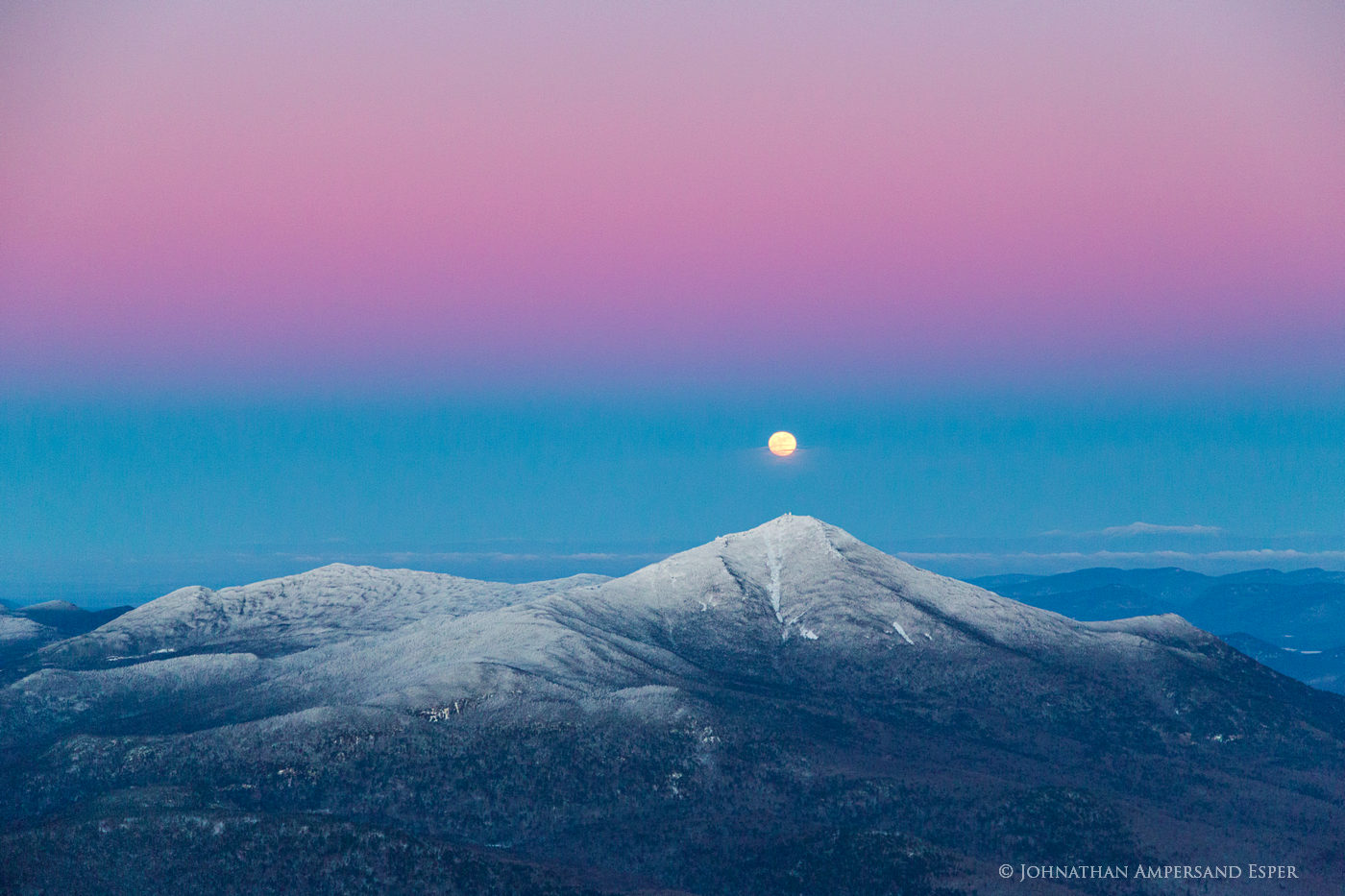 Whiteface Mt,Whiteface,aerial,winter,winter aerial,full moon,rising moon,moon,, photo