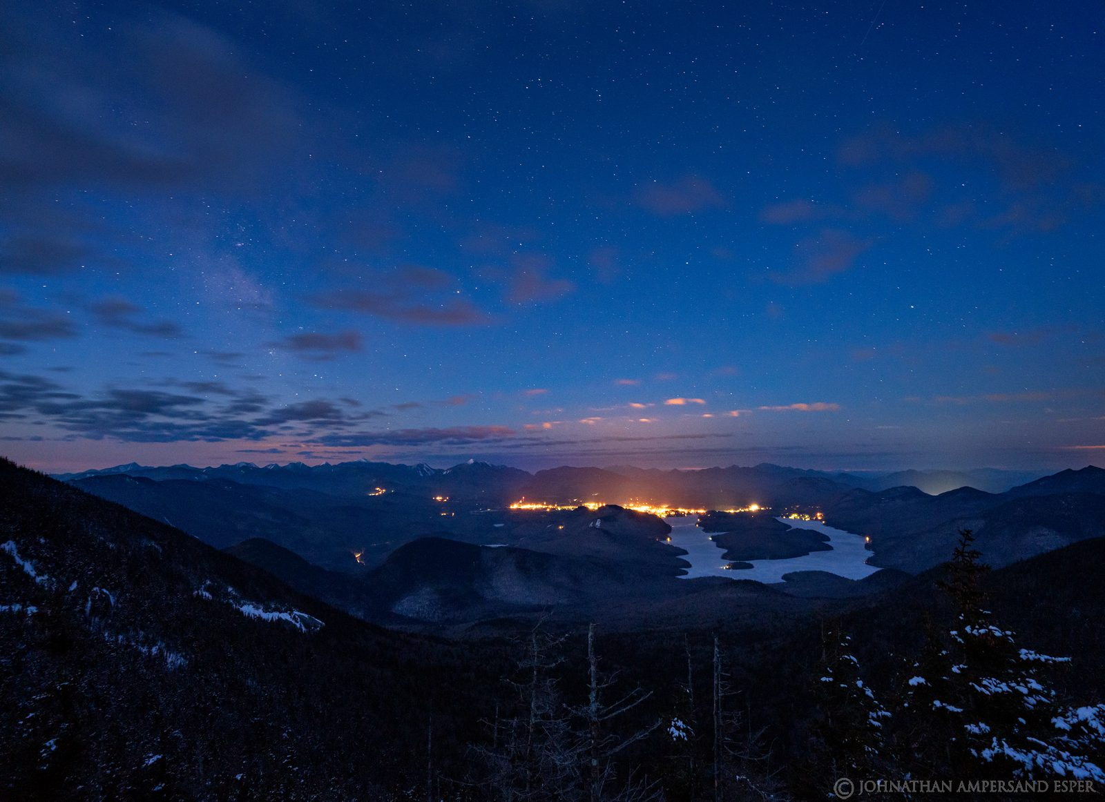 Whiteface Mt,Lake Placid,night,sky,stars,Milky Way,Whiteface Memorial Highway,winter,village of Lake Placid, photo