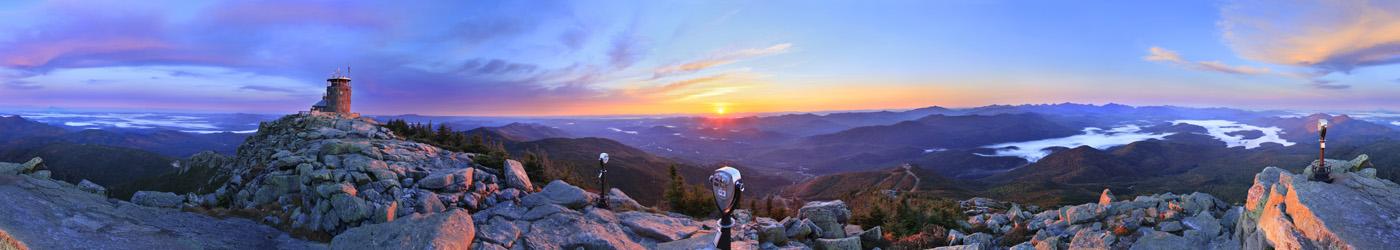 Whiteface Mt,Adirondack Park,Adirondack Moutains, summit,360 degree panorama,Whiteface,sunrise,Lake Placid,New York Stat, photo
